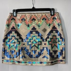 Express Sequin Mini Skirt Size XS